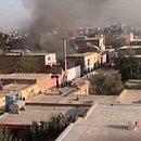 Imagens de uma emissora de TV afegã mostram fumaça escura saindo de uma zona residencial de Cabul