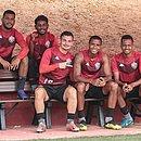 Jogadores do Vitória durante um treino na Toca do Leão