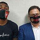 Gerson foi depor acompanhado do vice-presidente jurídico do Flamengo, Rodrigo Dunshee