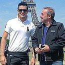 Gugu e Thiago durante viagem para Paris em 2014