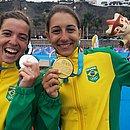 Vittoria e Luisa mostram suas medalhas no Pan