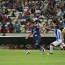 Lance do jogo entre Fortaleza e CSA