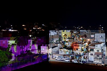 Evento é o primeiro video mapping em grande escala realizado na periferia de Salvador