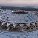 Estádio de Samara, na Rússia, ainda está sem gramado