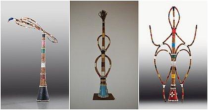 Exposição reúne 23 obras do sacerdote e artista plástico Mestre Didi