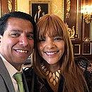 Flordelis ao lado do ex-marido Anderson