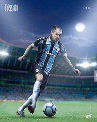 D'Alessandro com a camisa do Grêmio