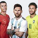 Cristiano Ronaldo, Messi e Neymar possuem os maiores salários do futebol mundial