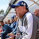 Maradona passou por cirurgia na semana passada, por causa de um hematoma no cérebro