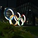 Aros olímpicos em Tóquio
