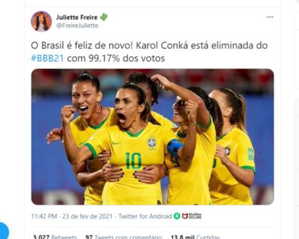 Neymar, afeto de Lucas, choro de Lumena e memes: a eliminação de Conká na internet