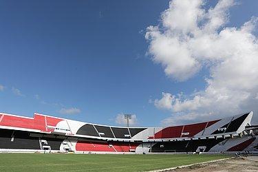 Caçula entre os três estádios tradicionais do Recife, o colosso do Arruda foi inaugurado em 1972 e é o que tem maior capacidade: 60.044. É a casa do Santa Cruz