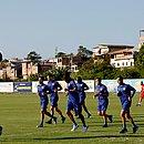 Jogadores do Bahia durante treino no Fazendão