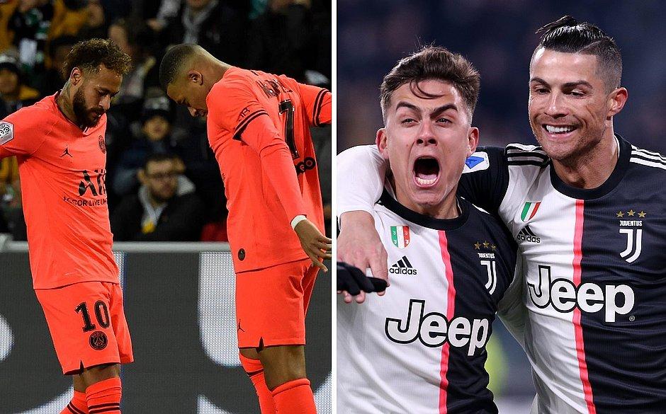 Veja os gols mais bonitos feitos pelo PSG e Juventus na temporada