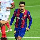 Phillipe Coutinho marcou seu primeiro gol após retorno ao Barcelona