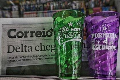 Copo da sorte: Leitores garantiram copo do CORREIO para o Enem