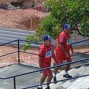 Enderson deixou o campo do Fazendão sem falar com a imprensa. Ele está mantido como treinador do Bahia