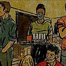 Tira da série 'Confinada', de Leandro Assis e Triscila Oliveira