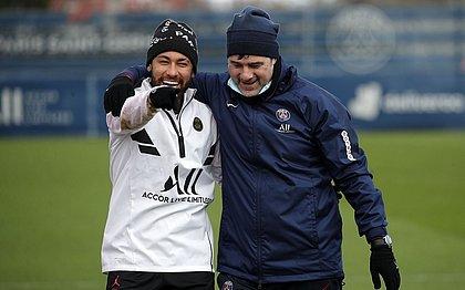 Neymar ganhou elogios do técnico do PSG, Mauricio Pochettino