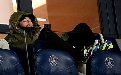 Neymar durante a derrota do PSG para o Nantes, no último domingo (14), pelo Campeonato Francês