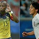 O equatoriano Enner Valencia e o japonês Koji Miyoshi vão se enfrentar no Mineirão