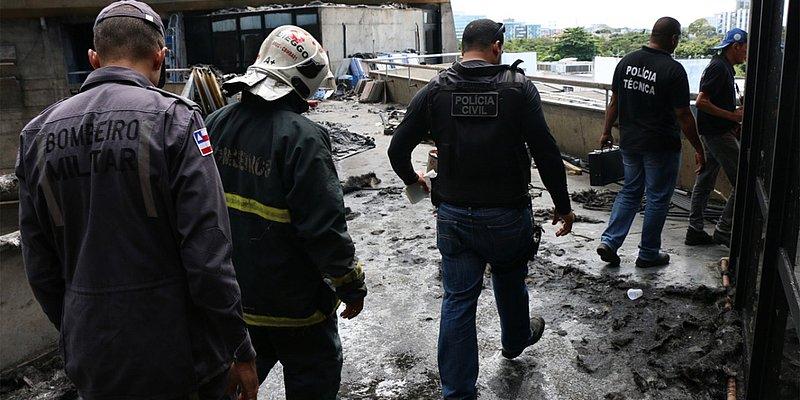 Curto-circuito causou incêndio na Assembleia Legislativa