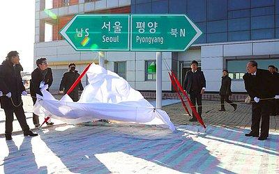 As Coréias do Sul e do Norte serão religadas através de estradas e ferrovias partindo da estação  Panmun na cidade de Kaesong.