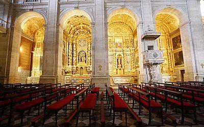 Catedral tem 13 altares: seis de cada lado, além do altar-mor