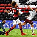 Yago aproveitou falha de Hugo e Willian Arão e fez o gol da virada do Fluminense nos acréscimos