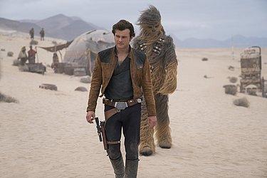 O jovem Han Solo e Chewbacca