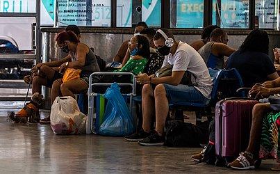 No Terminal Rodoviário de Salvador o movimento foi tranquilo nessa sexta-feira (9).