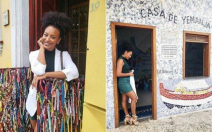 A heroína Sheron Menezzes em visita a Salvador, em abril deste ano