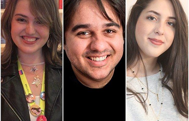 Na foto: Iris Figueiredo, Pedro Duarte e Vanessa Brunt