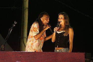 Com Gilberto Gil, em 2008