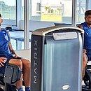 Gilberto vem treinando na academia e deve fazer a transição para o campo na próxima semana
