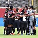 Time do Vitória durante jogo do Brasileirão 2019