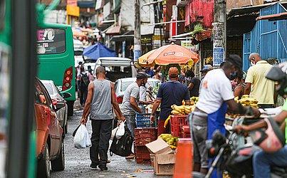 Aglomeração no bairro de São Marcos.