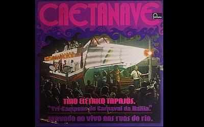 Capa do disco Caetanave (1972), do Trio Elétrico Tapajós