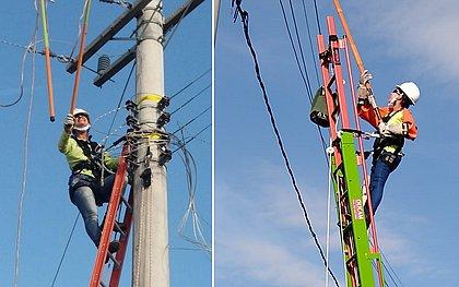 Alunas do curso de Eletricista do SENAI Bahia