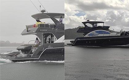 Bell Marques passeia com lancha avaliada em R$ 7 milhões e causa fuzuê na Ilha