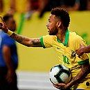 Neymar se machucou durante o amistoso contra o Catar