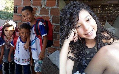 Duas meninas têm 11 e 5 anos, enquanto meninos têm 3 e 7