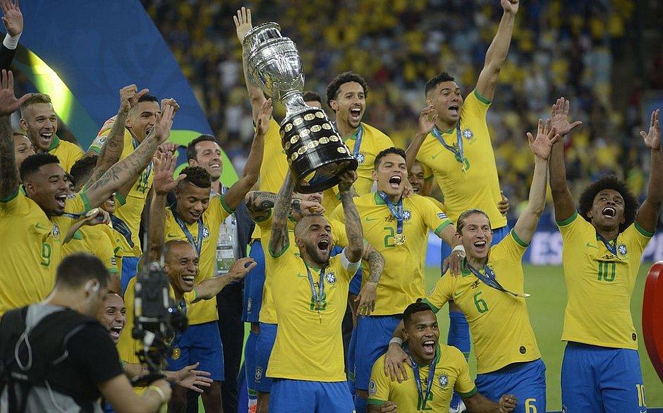 A Seleção Brasileira é a atual campeã da Copa América