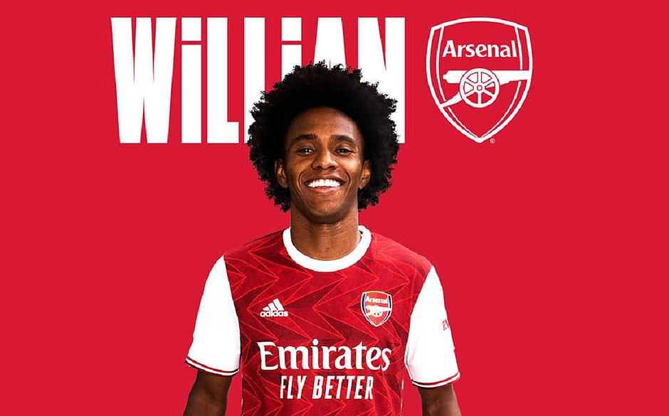 Willian deixa Chelsea e assina por três temporadas com Arsenal