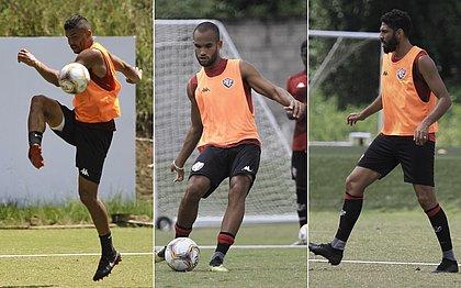 Maurício Ramos, João Victor e Wallace disputam vaga na zaga titular do Vitória