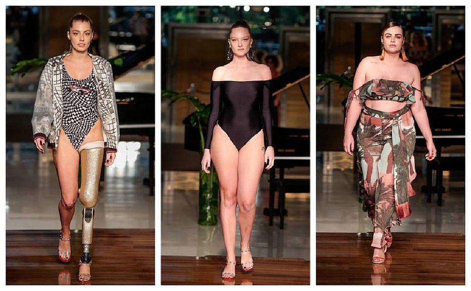 c08422c29247 Tendência. Três momentos de diversidade no desfile da marca de moda praia  Água de Coco (Luciana Prezia/Divulgaçáo)