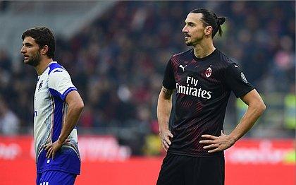 Ibrahimovic estreia, mas Milan fica no empate com Sampdoria