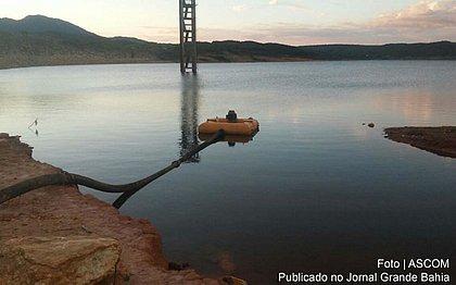 Barragem de Luiz Vieira, em Rio de Contas, que está em nível 2