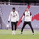 Neymar e Draxler em treino do PSG desta terça-feira (6)