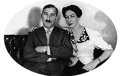 Foto oficial do casal Stefan e Lotte no Brasil, distribuída aos amigos em 1940